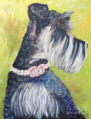 Mini Schnauzer Painting - Stella by Vonda Lawson-Rosa