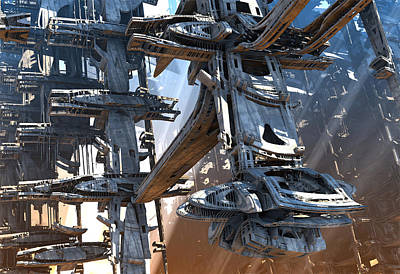Digital Art - Stellar Express Ship Company by Hal Tenny
