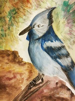 Painting - Stellar Jay Day by Maria Urso
