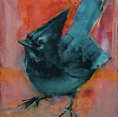 Painting - Stellar's Jay by Jani Freimann