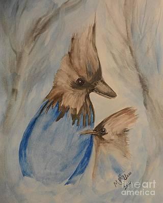Stellar Painting - Stellar Jay - Winter #4 by Maria Urso