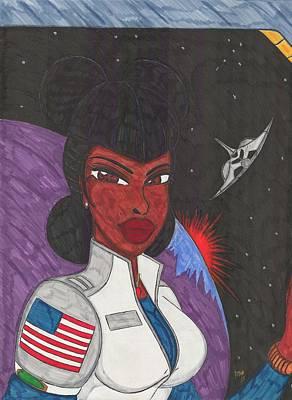Astronaut Mixed Media - Stellar Queen by Ronald Woods