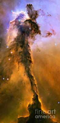 Stellar Spire In The Eagle Nebula Art Print by Nicholas Burningham