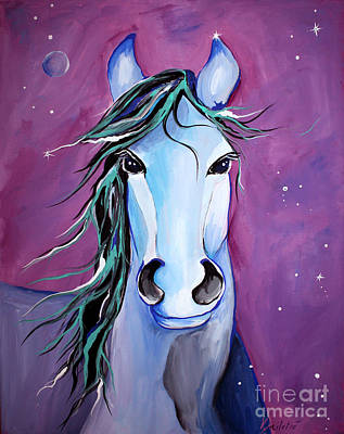 Courage Painting - Stellar Whimsical Horse Art By Valentina Miletic by Valentina Miletic
