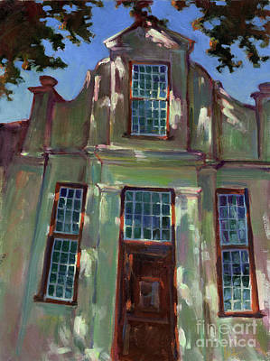Stellenbosch Gable Art Print by Lue Isaac