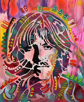 George Harrison Wall Art - Painting - Stencil Harrison by Dean Russo Art