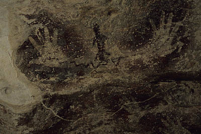 Stenciled Hands Over 10,000 Years-old Art Print by Carsten Peter
