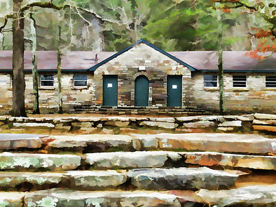 High Park Fire Painting - Step At Cheaha State Park by Lanjee Chee