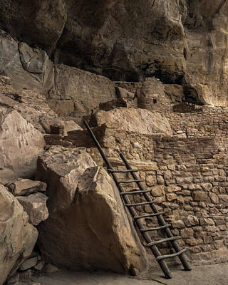 Mesa Verde Photograph - Step House Ladder by Joseph Smith