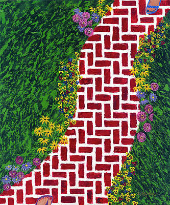 Step Into My Garden Art Print
