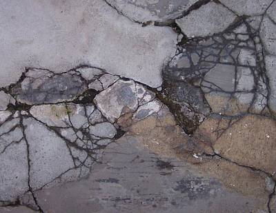 Step On A Crack 2 Art Print by Anna Villarreal Garbis