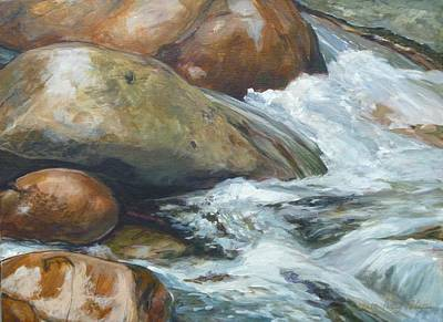 Painting - Step Stones by Denise Ivey Telep