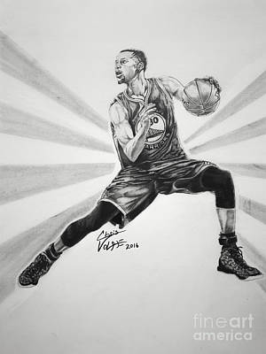Steph Curry Art Print by Chris Volpe