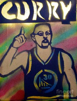 Sports Paintings - Steph Curry Street Art by Tony B Conscious