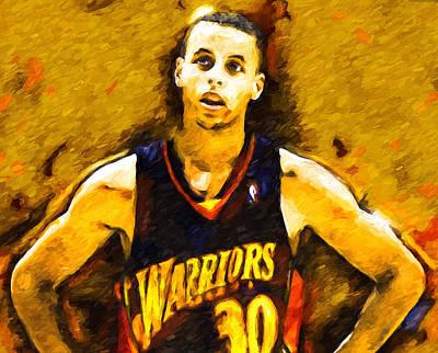 Steph Curry What A Jumper Art Print by John Farr