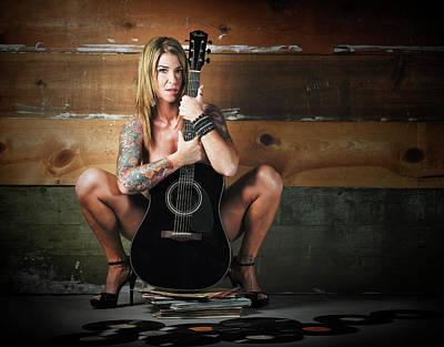 Photograph - Stephanie W/guitar by Craig Burgwardt