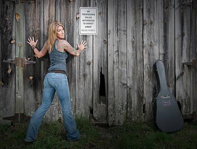 Photograph - Stephanie Guitar Barnwood by Craig Burgwardt