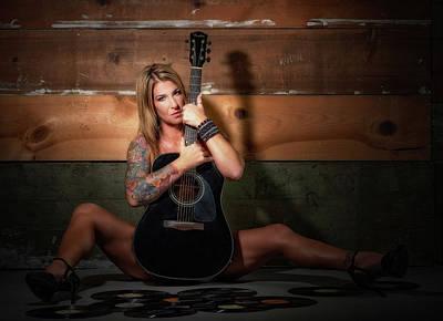 Photograph - Stephanie W/guitar Sitting by Craig Burgwardt