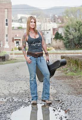Photograph - Stephanie Guitar Standing 1 by Craig Burgwardt
