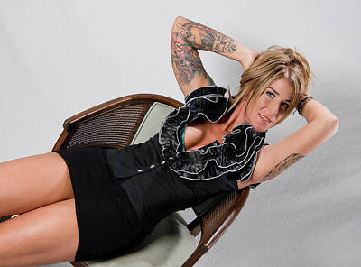 Photograph - Stephanie Sitting 3 by Craig Burgwardt