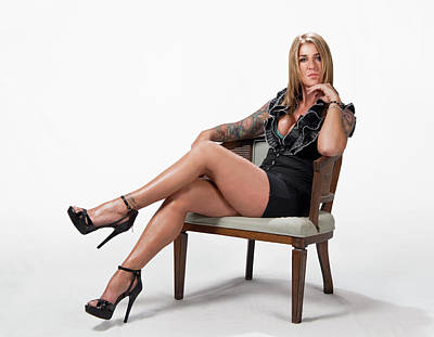 Photograph - Stephanie Sitting by Craig Burgwardt