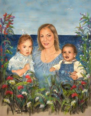 Stephanie With Sarah And Jillian Art Print