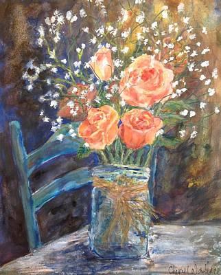 Stephanie's Roses Original by Cheryl Wallace