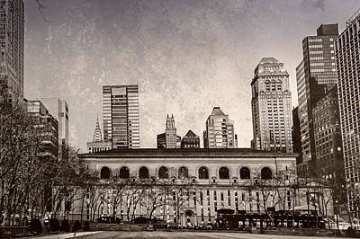 Photograph - Stephen A. Schwarzman Building - Nypl by Alison Frank