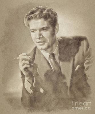 Musicians Drawings Rights Managed Images - Stephen Boyd, Vintage Actor by John Springfield Royalty-Free Image by Esoterica Art Agency