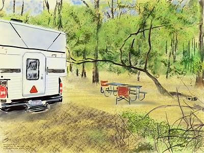 Digital Art - Stephen C. Foster Campground  by Joel Deutsch