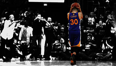 Stephen Curry 4f Art Print by Brian Reaves