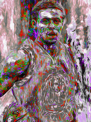 Photograph - Stephen Curry Golden State Warriors Digital Painting 2 by David Haskett II