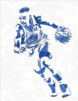 Stephen Curry Golden State Warriors Pixel Art 12 Art Print