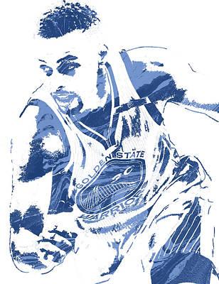 Warrior Mixed Media - Stephen Curry Golden State Warriors Pixel Art 8 by Joe Hamilton