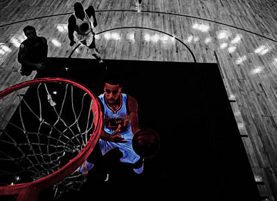 Stephen Curry Taking Flight Art Print by Brian Reaves