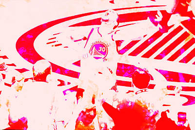 Stephen Curry Unstoppable Art Print by Brian Reaves
