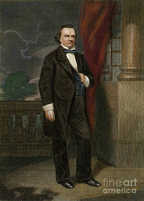 Drawing - Stephen Douglas, 1813-1861 by Granger