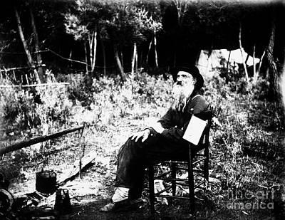 Wagon Train Photograph - Stephen H. Meek (1805-1889) by Granger