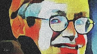 Digital Art - Stephen Hawking 03 ...35.20 English Theoretical Physicist by S Art