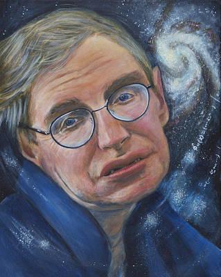 Stephen Hawking Art Print by Simon Kregar
