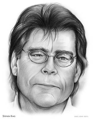 Writer Drawing - Stephen King by Greg Joens