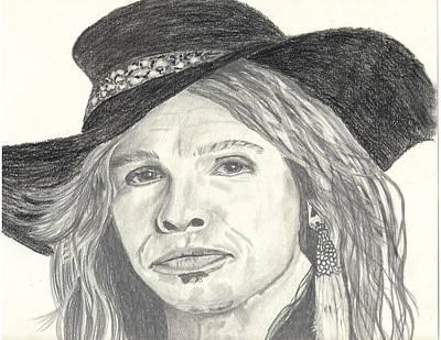 Aerosmith Drawing - Stephen Tyler by DebiJeen Pencils