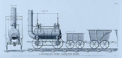 Drawing - Stephenson's Patent Locomotive Engine by Richard Reeve