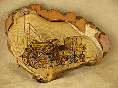 Pyrography Pyrography - Stephensons Rocket by Brian Case