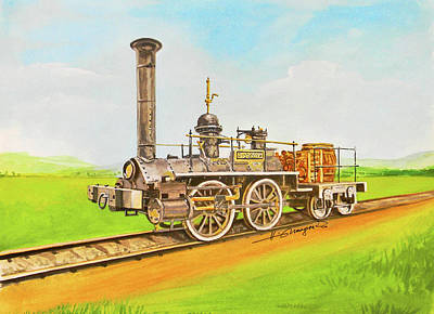Painting - Steam Engine Mississippi by Johannes Margreiter