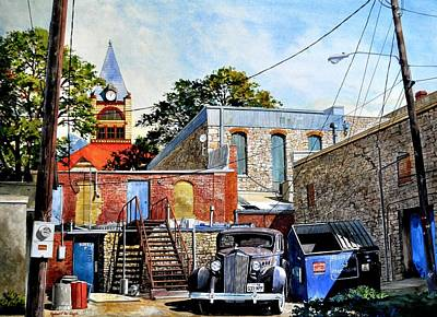 Painting - Stephenville Alley  by Robert W Cook