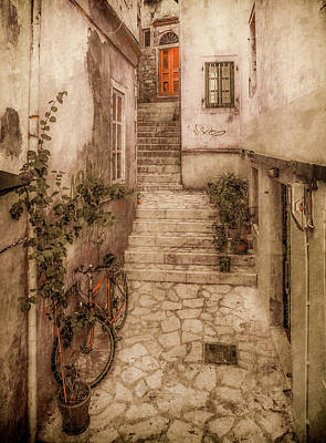 Photograph - Corfu, Greece - Stepped Street by Mark Forte