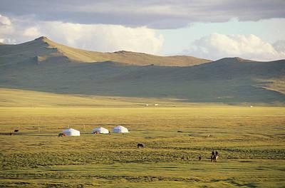Yurts Photograph - Steppeland Gers Yurts by David Edwards