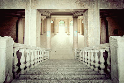Stepping Down To Hallway Art Print by Svetlana Sewell