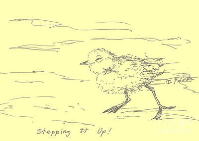 Drawing - Stepping It Up by Denise Fulmer